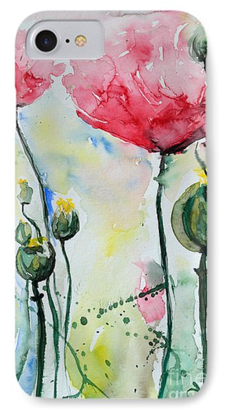 IPhone Case featuring the painting Poppies by Ismeta Gruenwald