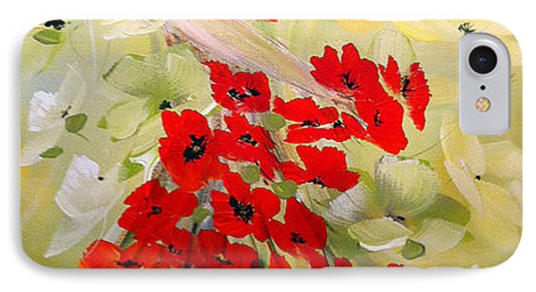 IPhone Case featuring the painting Poppies Lady by Dorothy Maier