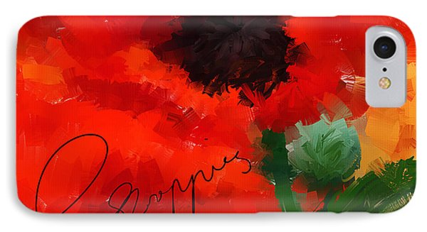 Poppies IPhone Case by Lourry Legarde