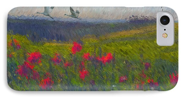 IPhone Case featuring the digital art Poppies Of Tuscany by Lianne Schneider