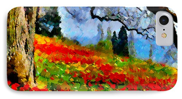 Poppies On A Hill IPhone Case by Georgiana Romanovna