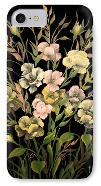 IPhone Case featuring the painting Poppies On Black Canvas by Jimmie Bartlett