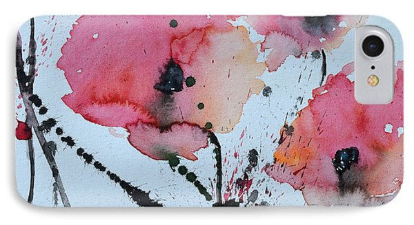 Poppies- Painting Phone Case by Ismeta Gruenwald