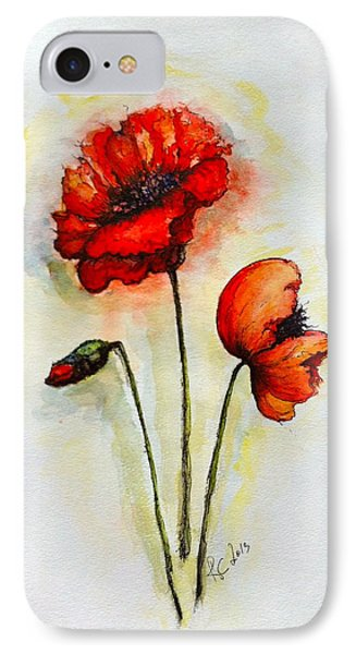 IPhone Case featuring the painting Poppies by Rae Chichilnitsky