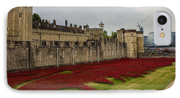 Poppies Tower Of London IPhone Case by Martin Newman