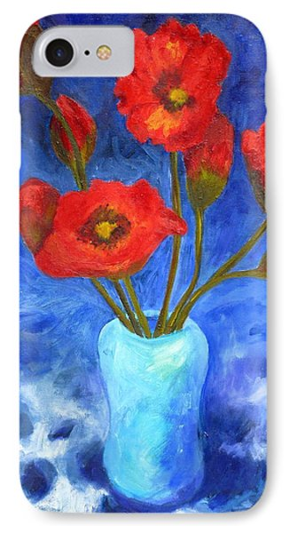 Poppies Phone Case by Valerie Lynch