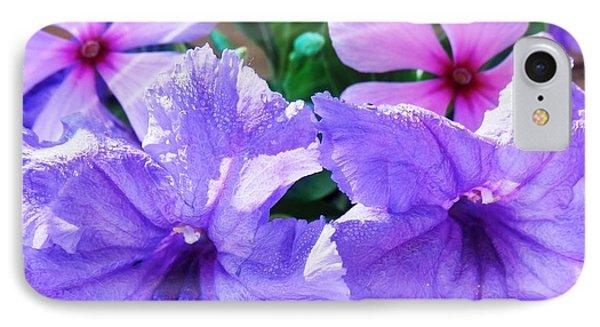 Popping Purple Petals Beauty IPhone Case by Belinda Lee