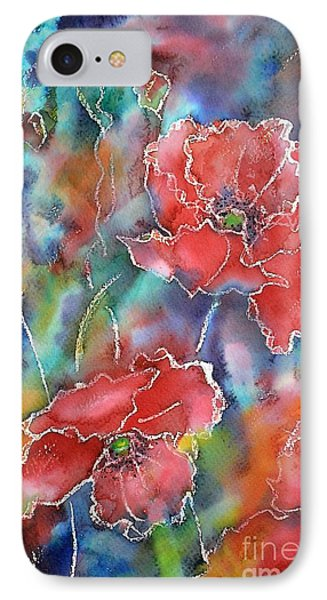 Poppy Abstract IPhone Case by Kathleen Pio