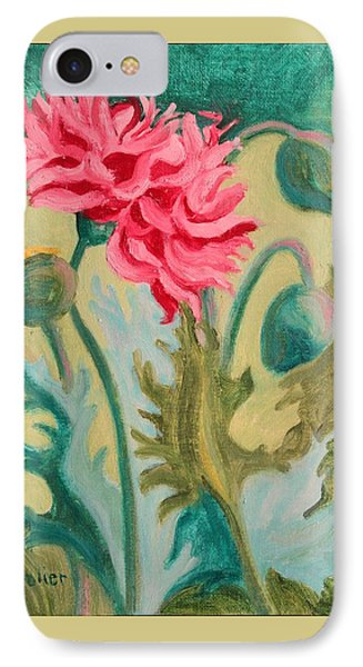 Poppy Abstract IPhone Case