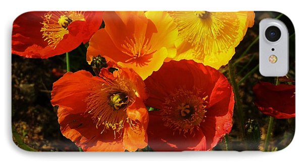 Poppy Bouquet IPhone Case by Helen Carson