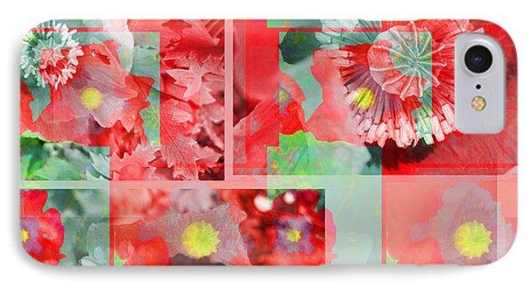 Poppy Collage IPhone Case by Barbara Moignard