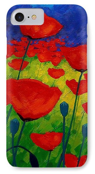 Poppy Corner II IPhone Case by John  Nolan