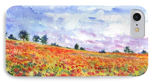 Poppy Field IPhone Case by Carol Wisniewski