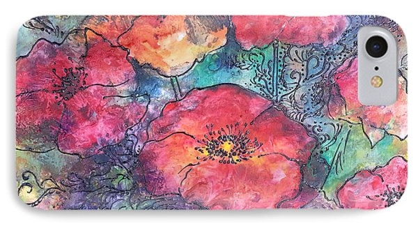 IPhone Case featuring the painting Poppy Flower Splash Of Spring by Christy  Freeman