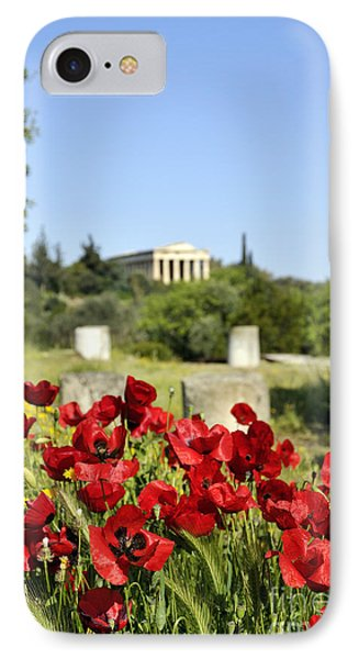 IPhone Case featuring the photograph Poppy Flowers In Ancient Market by George Atsametakis