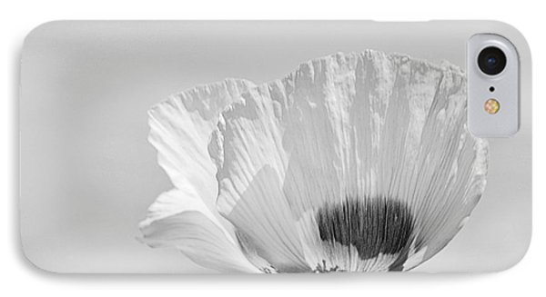 IPhone Case featuring the photograph Poppy In White by Ludwig Keck
