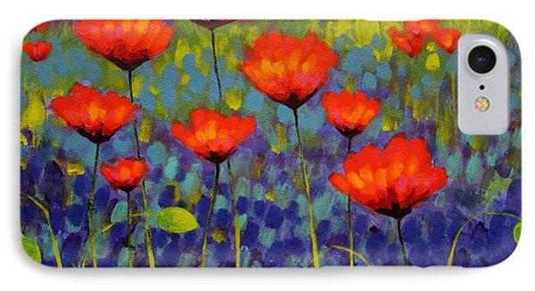 Poppy Meadow   Cropped 2 Phone Case by John  Nolan