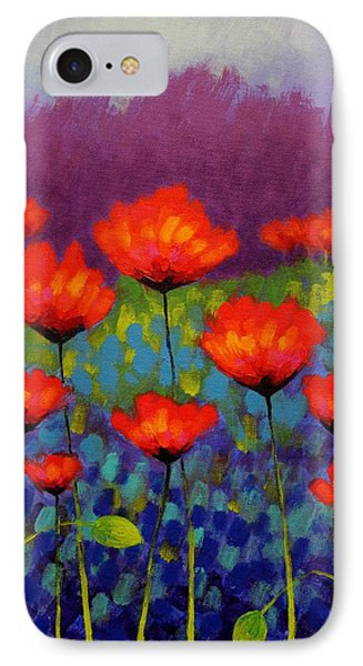 Poppy Meadow   Cropped Phone Case by John  Nolan