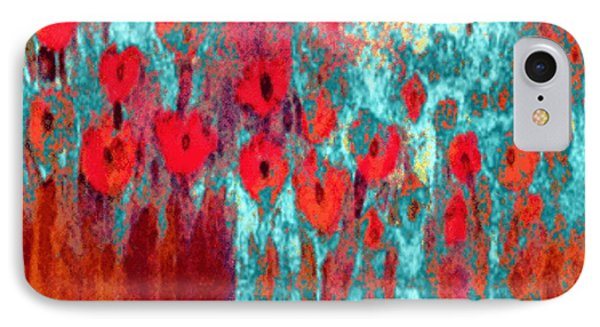 IPhone Case featuring the painting Poppy Passion by Holly Martinson