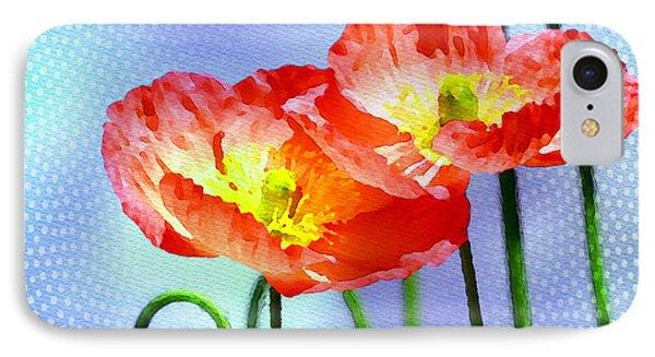 Poppy Series - Garden Views Phone Case by Moon Stumpp