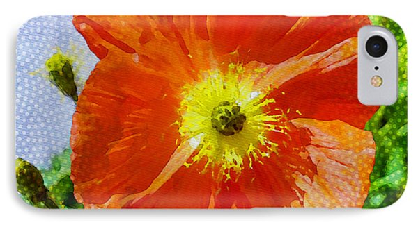 Poppy Series - Opened To The Sun Phone Case by Moon Stumpp