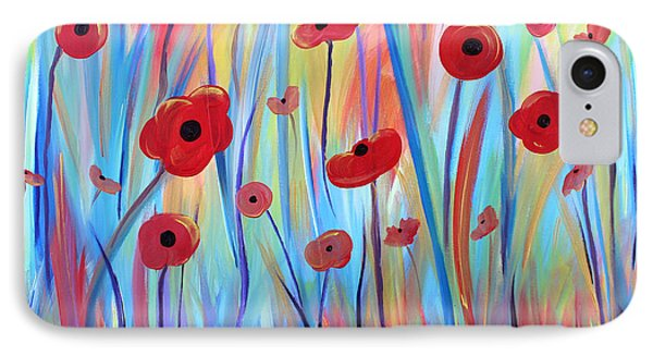 IPhone Case featuring the painting Poppy Symphony by Stacey Zimmerman
