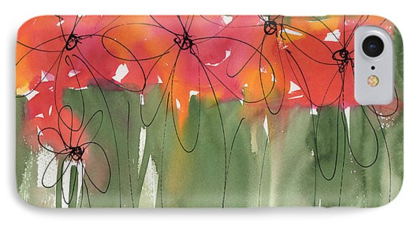 Poppy To Posy IPhone Case by Kathleen McElwaine