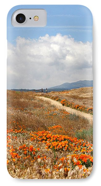 Poppy Trail IPhone Case by Art Block Collections