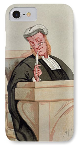 Popular Judgement, From Vanity Fair, 1st January 1876 Colour Litho IPhone Case by Carlo Pellegrini