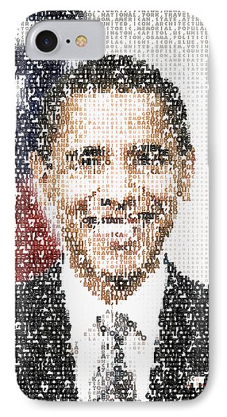 Popular President Obama Typography Portrait IPhone Case by Celestial Images