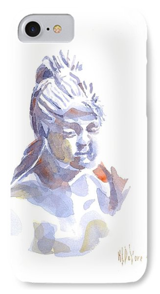 Porcelain Maiden In Watercolor IPhone Case