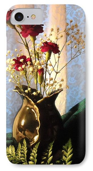 Porcelain Petal Vase 1 With Carnations IPhone Case