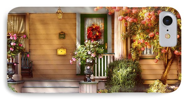 Porch - Cranford Nj - Simply Pink Phone Case by Mike Savad