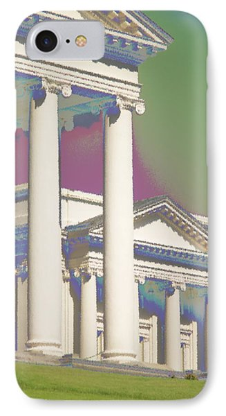IPhone Case featuring the photograph Porch Of State Capitol Richmond Va by Suzanne Powers