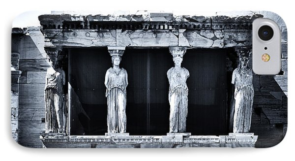 Porch Of The Caryatids Phone Case by John Rizzuto