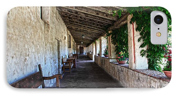 Porch On Carmel Mission IPhone Case