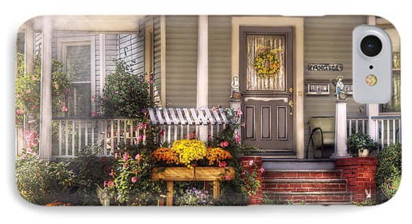 Porch - Westfield Nj - The House Of An Angel Phone Case by Mike Savad