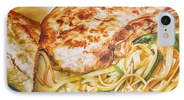 Pork Chop Noodles And French Bread IPhone Case