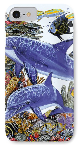Porpoise Reef IPhone Case by Carey Chen