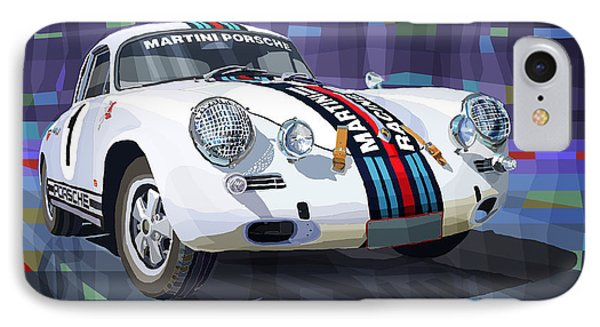 Porsche 356 Martini Racing IPhone Case by Yuriy Shevchuk