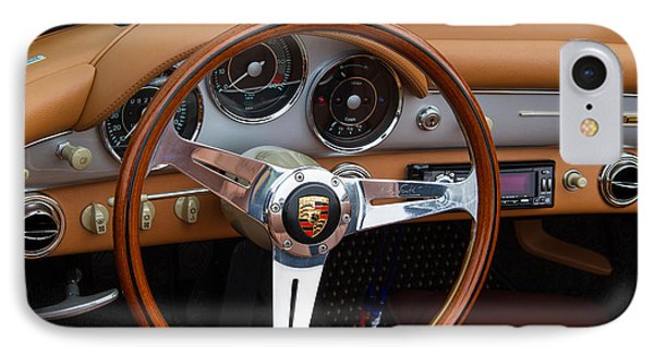 Porsche 356b Super 90 Interior IPhone Case by Roger Mullenhour