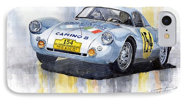 Porsche 550 Coupe 154 Carrera Panamericana 1953 IPhone Case by Yuriy  Shevchuk