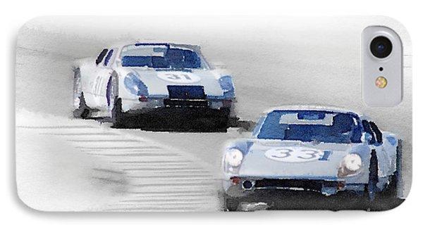 Porsche 904 Racing Watercolor IPhone Case