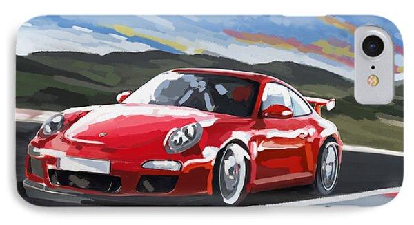 Porsche 911 Gt3 Impressionist IPhone Case by Tim Gilliland