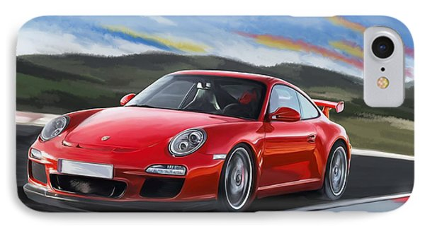 Porsche 911 Gt3 IPhone Case by Tim Gilliland