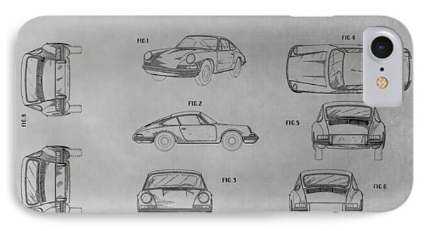 Porsche 911 Patent IPhone Case