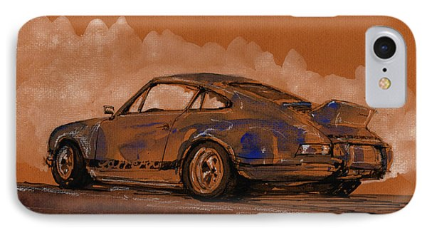 Porsche 911 Rs Classic IPhone Case by Juan  Bosco