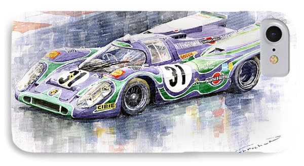 Porsche 917 K Martini Racing 1970 IPhone Case by Yuriy  Shevchuk
