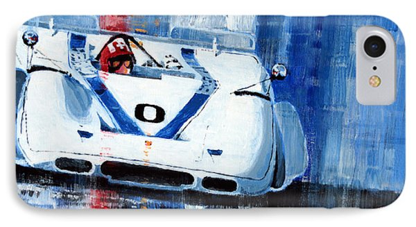 Porsche 917 Pa J.siffert Laguna Seca Canam 1969 IPhone Case by Yuriy Shevchuk