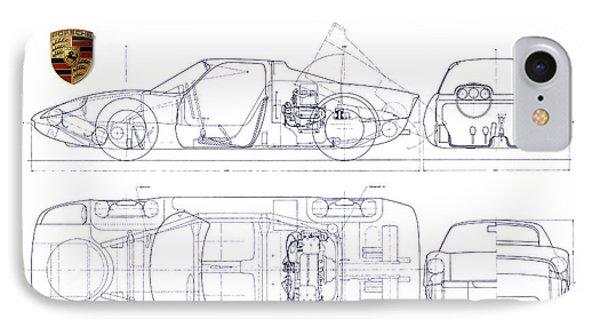 Porsche Carrera Gt Iphone 7 Case 904 Blueprint By Jon Neidert: Porsche 904 Engine Diagram At Executivepassage.co